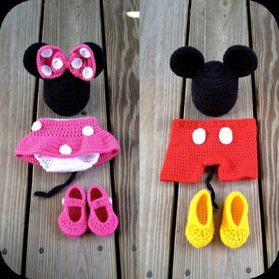 Disfraz de minnie mouse y de mickey mouse para bebe$380 | Ya-De
